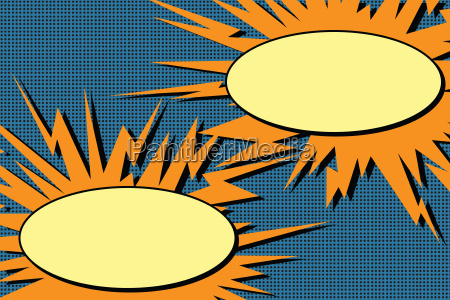 comic dialog blasen explosion pop art