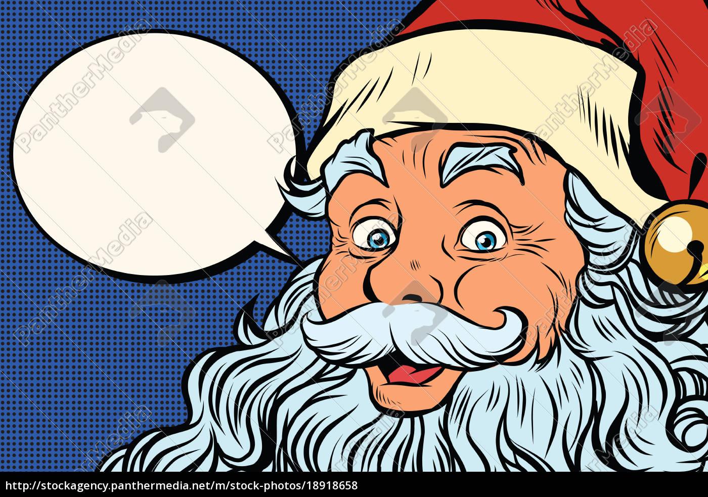 Stock Bild 18918658 Weihnachtsmann Erzählt Comic Blase