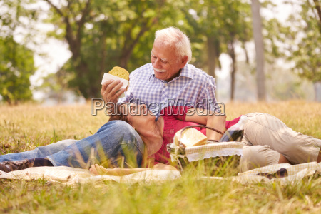 old couple senior man and woman