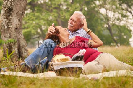 elderly couple senior man and woman