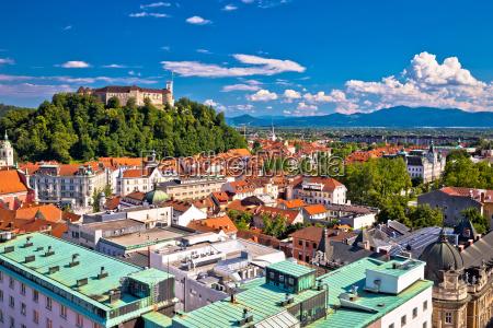 city of ljubljana aerial view