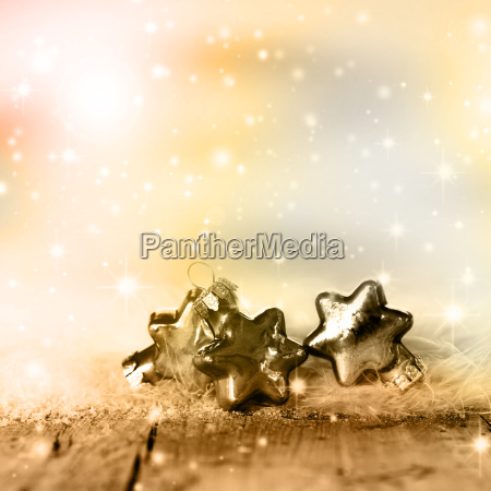 silver and golden christmas stars