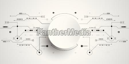 vektor abstrakte hintergrund technologie innovation