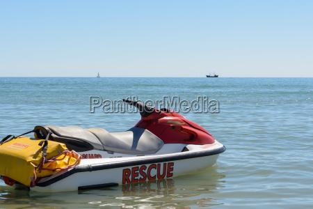 rettungsboot zum einsatz bereit