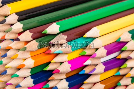 colorful pencils pile