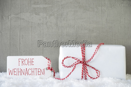 one gift urban cement background frohe
