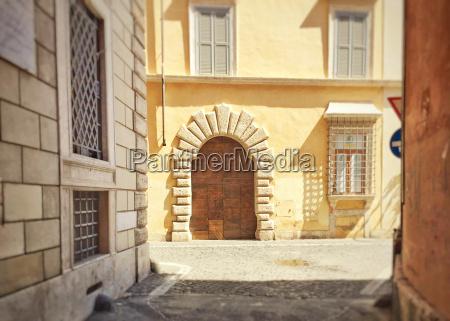 elegant doorway of a roman building