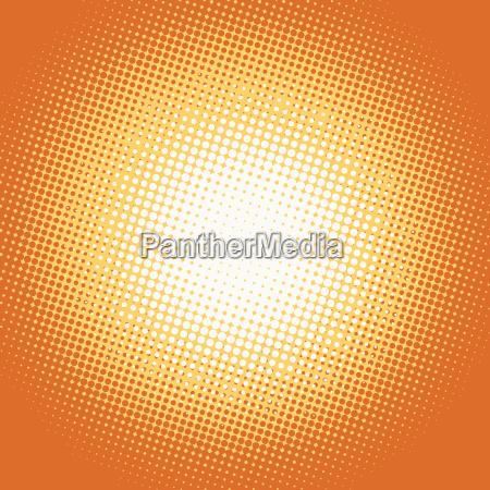 orange pop art retro hintergrund mit