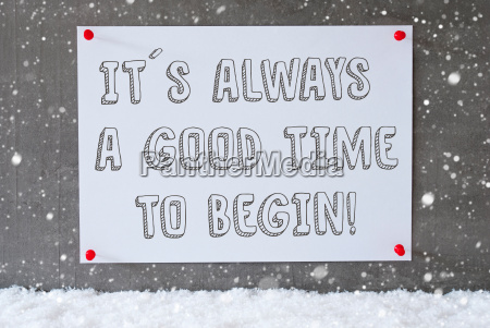 label on cement wall snowflakes quote
