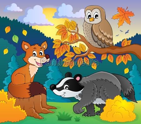 forest wildlife theme image 2