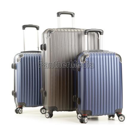 reise koffer isoliert auf weissem hintergrund