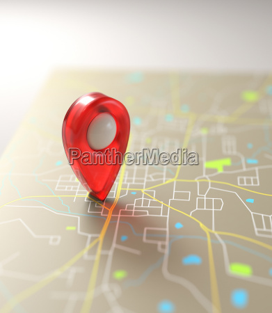 gps mark road map