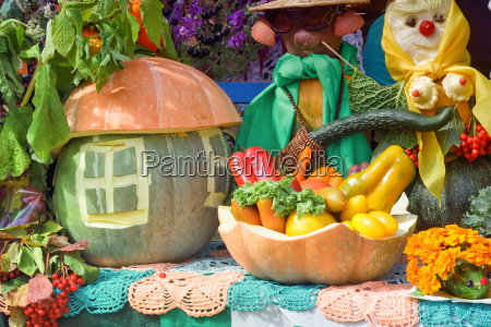 vegetable harvest is sold at the
