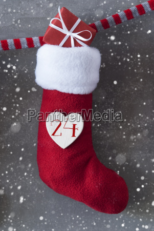 vertical boot with gift cement background
