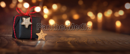 christmas background with a gift