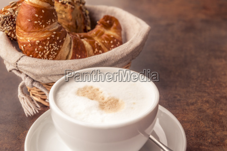 milk coffee and pastry products