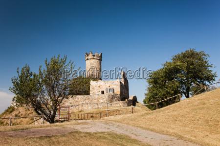 muehlburg castle ruin landscape in