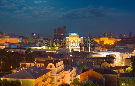 kiev at night ukraine