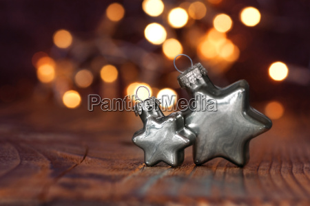 christmas stars in silver