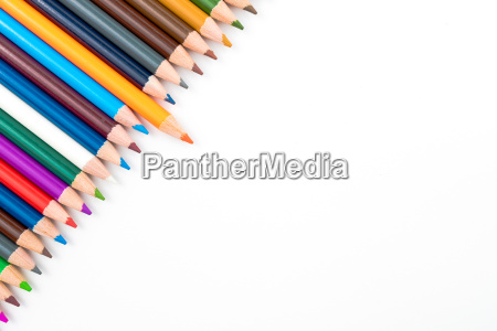 colouring pencils isolated on white background