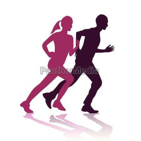 menschen leute personen mensch illustration jogging