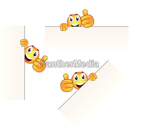 set of three vector cartoon character