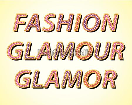 mode modern moderne wort glamour zeitgerecht