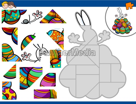 jigsaw puzzle with easter bunny