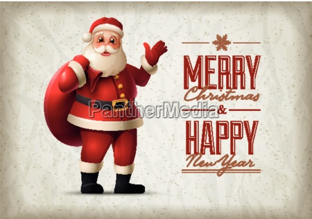santa claus standing and smiling christmas