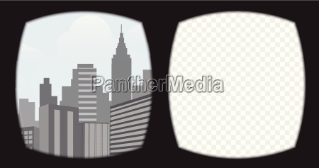 virtual reality brillen overlay auf dem