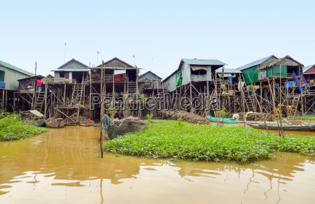 traditional settlement at the tonle sap