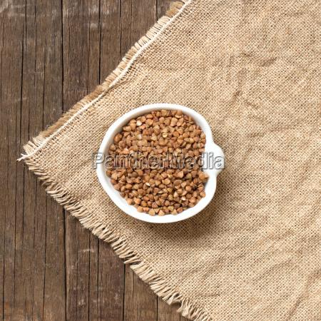 raw organic buckwheat in a bowl
