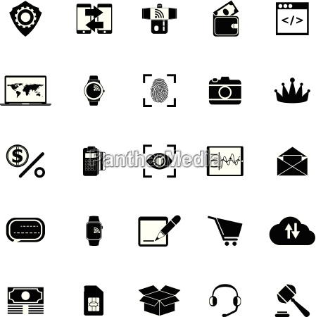 business plan and financial technology icons