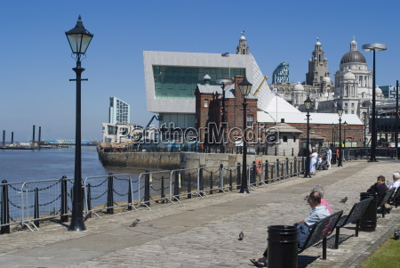 view from albert dock towards the
