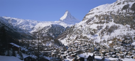 the town of zermatt and the
