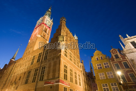 the main town hall in gdansk