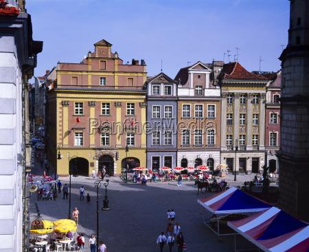 town square poznan poland europe