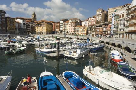 old town harbour bermeo euskadi basque