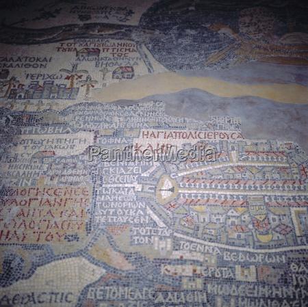 madaba mosaik karte 6 jahrhundert n
