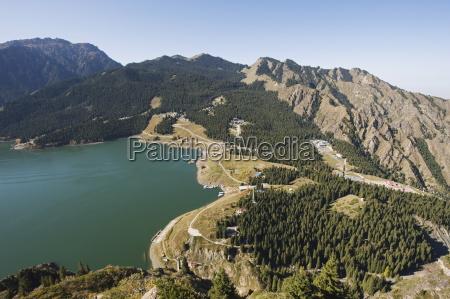 tian chi heaven lake xinjiang province