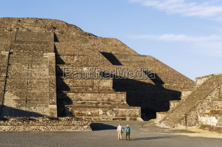 tourists at the pyramid of the