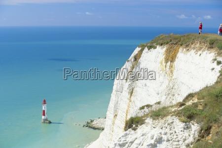 beachy head and lighthouse on chalk