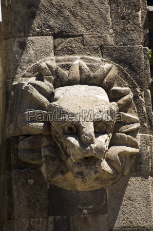 wasserspeier auf dem tempel von quetzalcoati