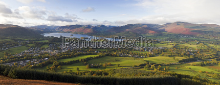 view over keswick and derwent water