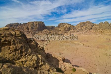 view over petra unesco world heritage