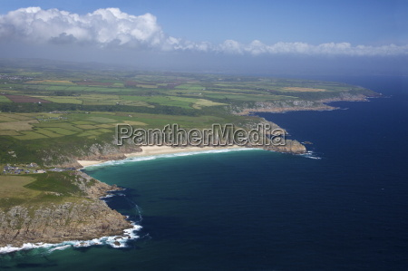 aerial photo of lands end peninsula