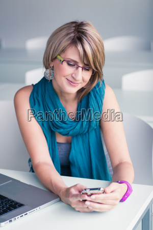 pretty young woman at an office
