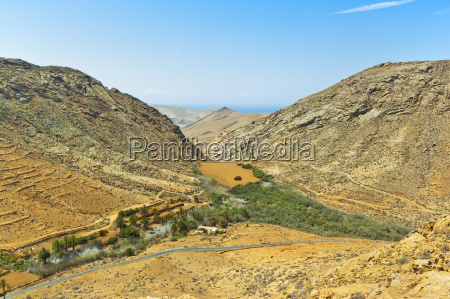 penitas ravine with dam and lake