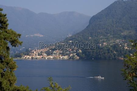 view of lake como lombardy italian