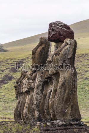 15 moai restored ceremonial site of